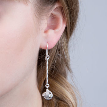 Love And Friendship Knot Hanging Earrings