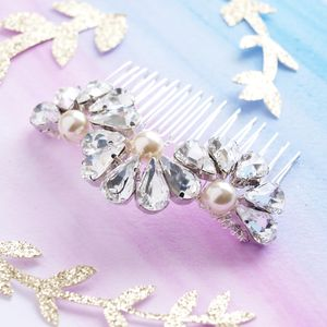 Feather And Fan Crystal Bridal Hair Comb - bridal hairpieces