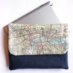 Personalised Map Print iPad Tablet Case - men's accessories