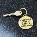 Gold Stars Key Tag
