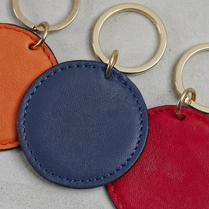 Leather Disk Key Ring