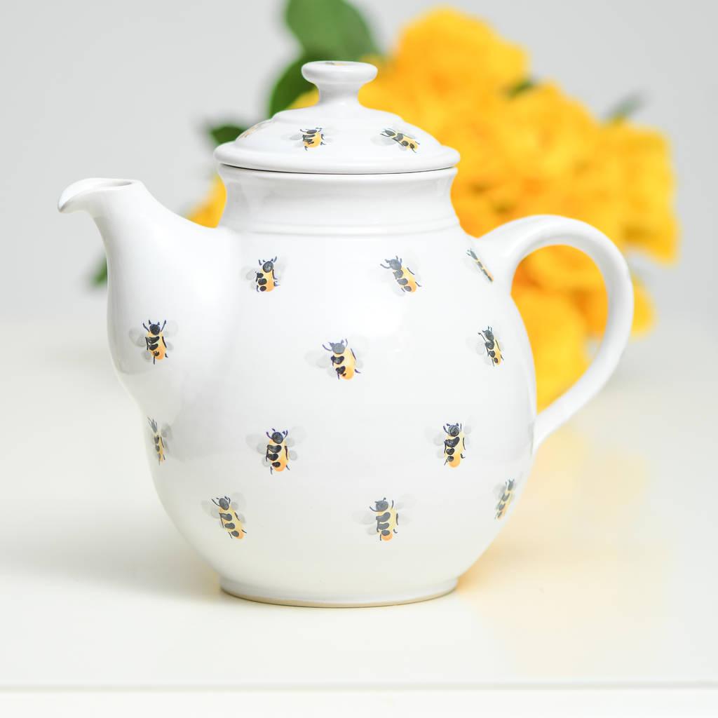 Handmade Ceramic Bee Teapot