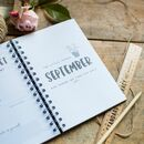 Personalised 2020 Gold Foil Diary With Floral Design