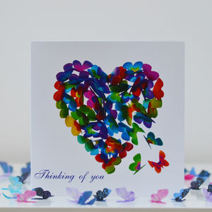 Thinking Of You Butterfly Heart Card - shop by category