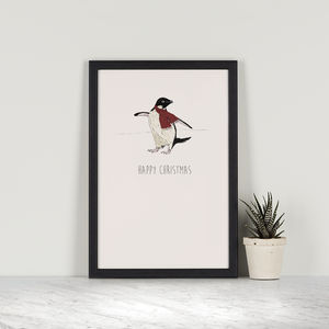 Happy Christmas – Adelie Penguin - drawings & illustrations
