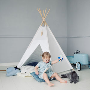 Pure White Teepee - toys & games
