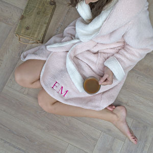 Personalised Reversible Hooded Dressing Gown - gifts for her