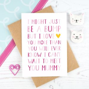 'From The Bump' Mummy Birthday Card - birthday cards