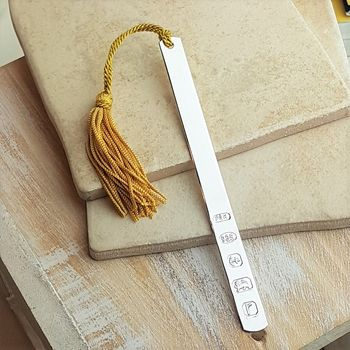 Personalised Modern Slim And Slender Silver Bookmark