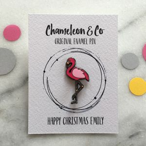 Pink Flamingo Enamel Pin - pins & brooches