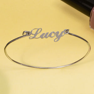 Personalised Name Wire Bracelet - personalised jewellery