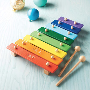 Personalised Wooden Xylophone - colour saturday