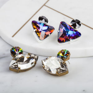 Crystal Statement Earrings - party wear & accessories