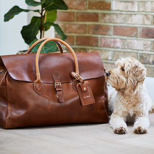 Leather Travel Bag 'Herbert' - 50th birthday gifts