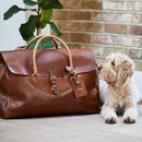Leather Travel Bag 'Herbert'