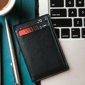 Leather Card Holder With Rfid Protection