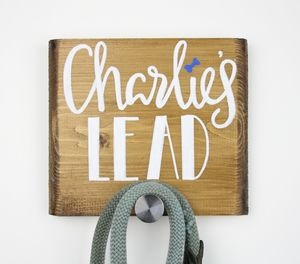 Personalised Dog Lead Plaque - home accessories