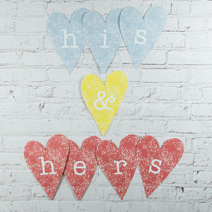 His And Hers Heart Decoration