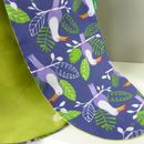 Toucan And Palm Printed Fabric Lunch Bag