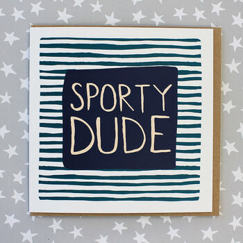 Sporty Dude Birthday Card