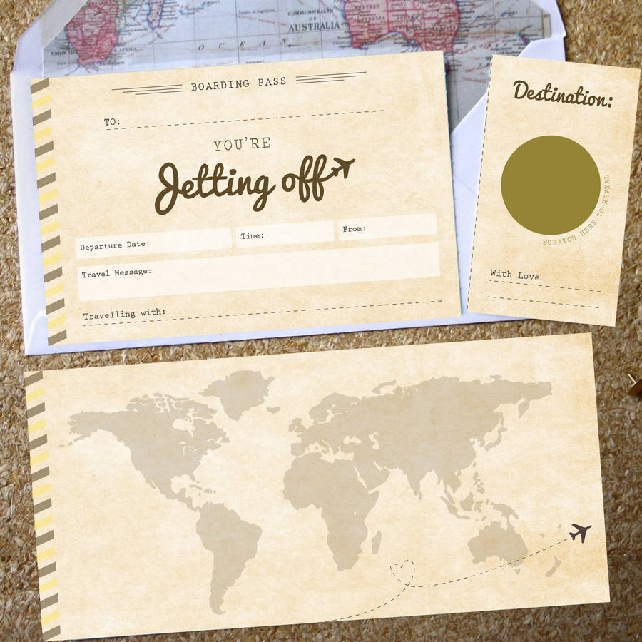 You Re Jetting Off Scratch Off Boarding Pass By Rodo Creative