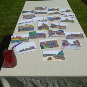 Sets Of Artistic City Postcards