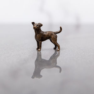 Miniature Bronze Jack Russell Statue - living & decorating