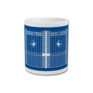 'Ninian Memorial Gates' Minimalist Cardiff City Mug - kitchen