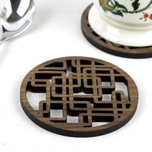 Plumber's Nightmare Walnut Coaster Set