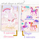 Personalised Unicorn Notebook 'Magic Unicorn'