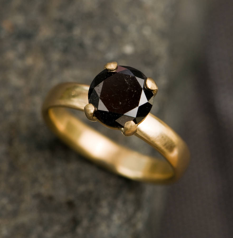 rings with black style gold moissanite pave brilliant ring wedding forever diamonds carat handmade vintage halo diamond engagement