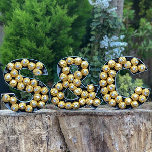 Large Wooden Ferrero Rocher Letters - housewarming gifts