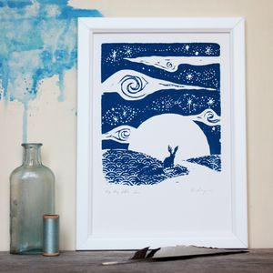 Little Hare Big Sky Original Screenprint