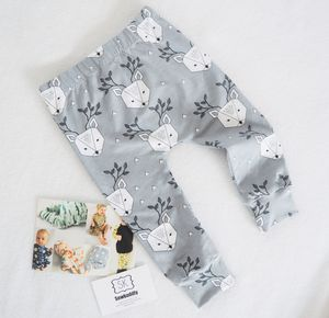 Festive Grey Deer Print Baby And Toddler Leggings - cosy clothing