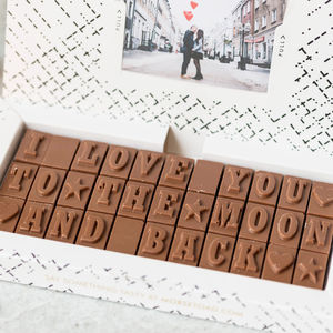 Romantic Chocolate Gift For Him - personalised