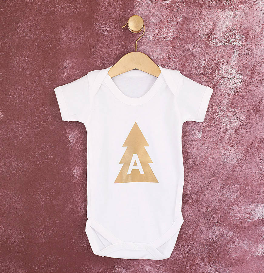Personalised Christmas Tree Babygrow