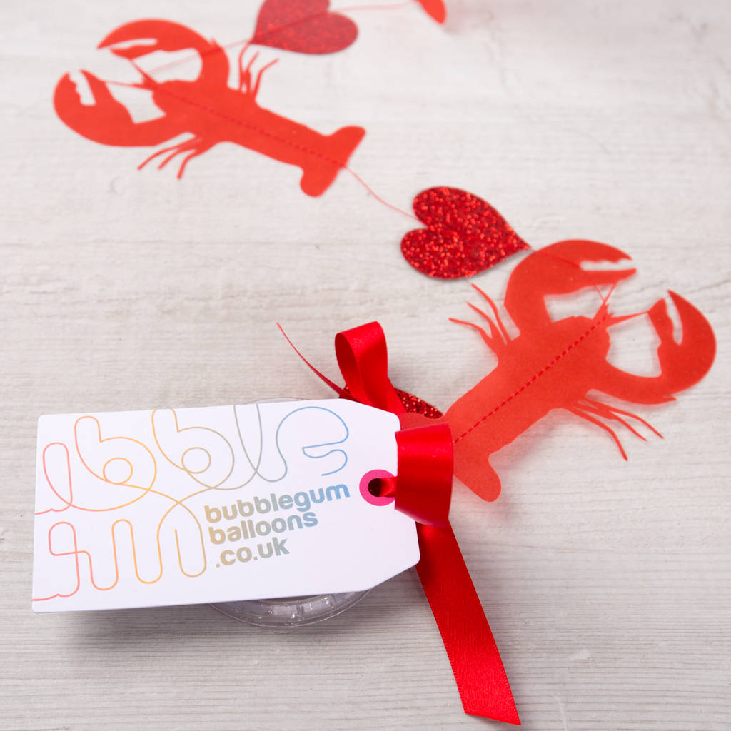 you\'re my lobster personalised valentine bubble balloon by bubblegum ...