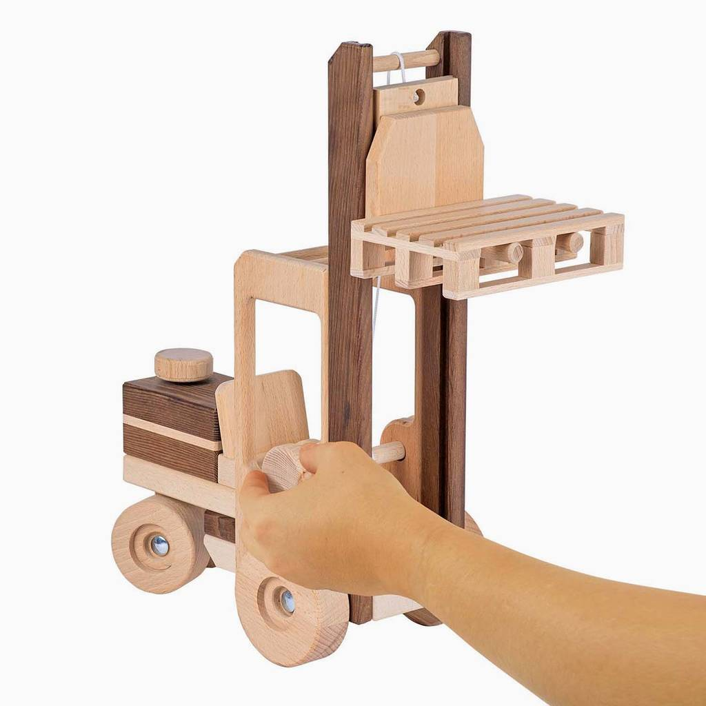 Wooden Toy Forklift Truck By The Little House Shop