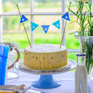 Blue All Star Mini Birthday Cake Bunting