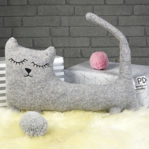Knitted Cat Soft Toy