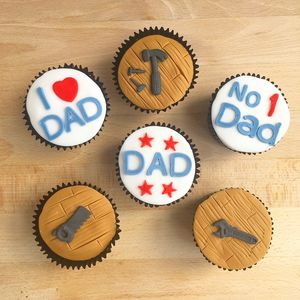 Diy Dad Cup Cakes X6 - cakes & sweet treats