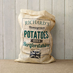 Personalised Hessian Vegetable Sack - gifts for him