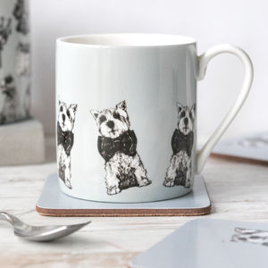 'Archie' Set Of Two West Highland Terrier Mugs - mugs