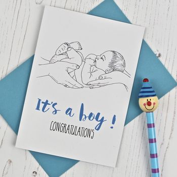 It's A Boy New Baby Card
