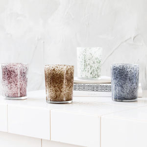Set Of Four Splatter Tea Light Holders - new in wedding styling
