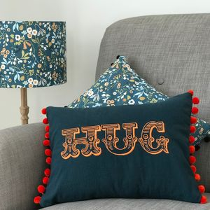 Circus Typography Hug Cushion