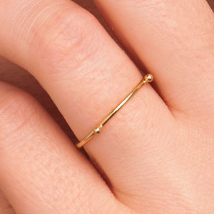 18k Gold 'Mini Grain' Ring - gold