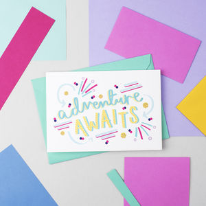 'Adventure Awaits' Card