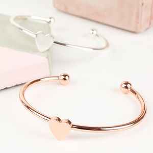 Heart Cuff Bangle - women's jewellery