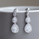 Double Pear Shaped Crystal Earrings